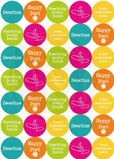 Happy Post Stickers - Bright Summer Colours - Food/Sweet Related